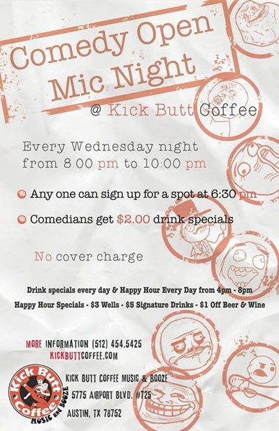 Comedy Open Mic Night Every Wednesday