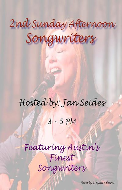 Jan Seides 2nd Sunday Afternoon Songwriters