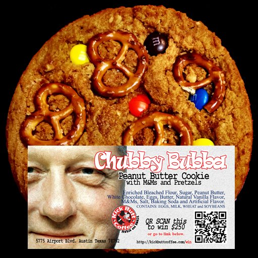 Chubby Bubba - Peanut Butter Cookie with M&Ms and Pretzels