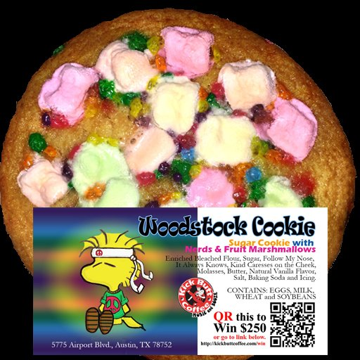 Woodstock Cookie - Sugar Cookie with Nerds and Fruit Marshmallows