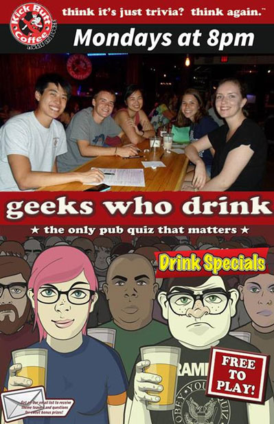 Geeks Who Drink Trivia Every Monday