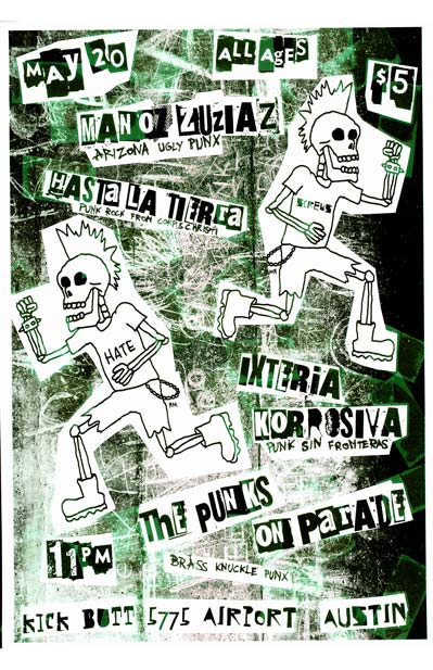 Manoz Zuziaz, Hasta la Tierra, Ixteria Korrosiva, The Punks on Parade