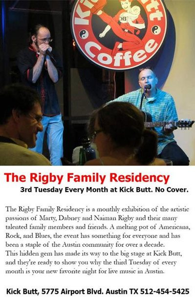 Rigby Family Residency Third Tuesday of the Month
