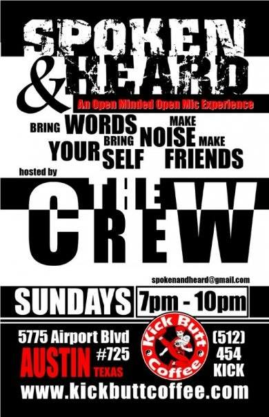 Spoken and Heard Open Mic Every Sunday